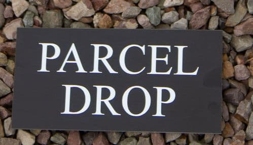 Deliveries Sign - Instructions for Couriers | The Sign Maker Shop